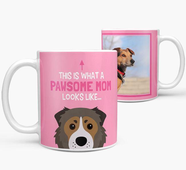 'Pawsome Mom' - Personalized Caucasian Shepherd Dog Mug
