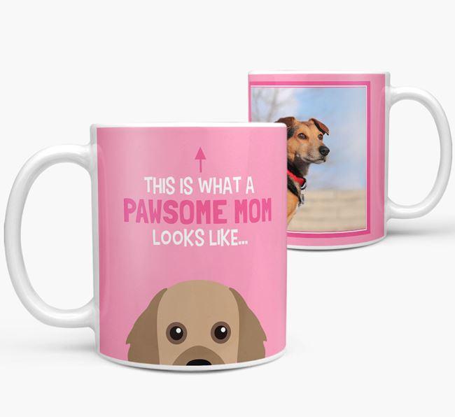 'Pawsome Mom' - Personalized Cavapom Mug