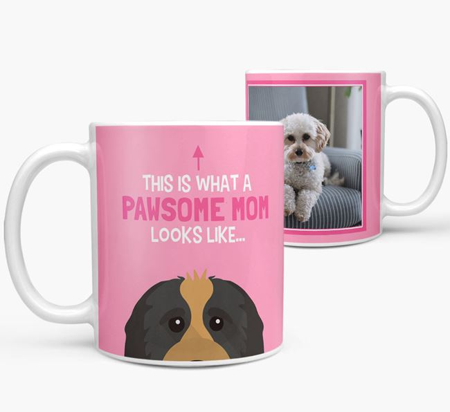 'Pawsome Mom' - Personalized Cavapoo Mug
