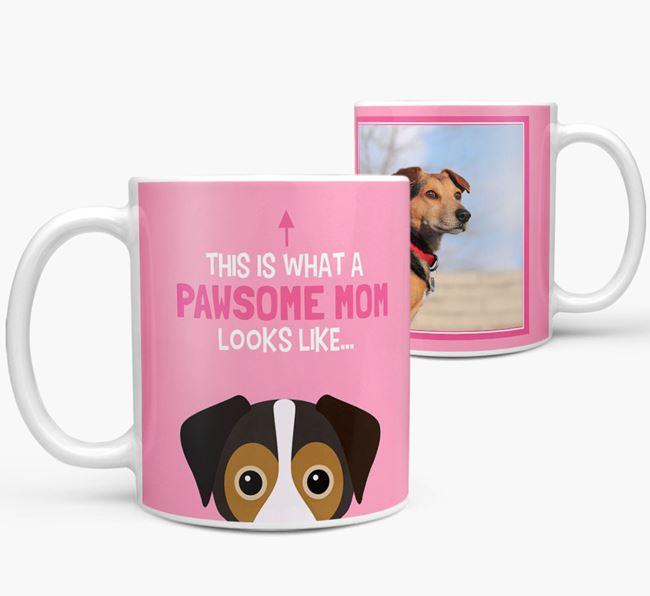 'Pawsome Mom' - Personalized Cheagle Mug