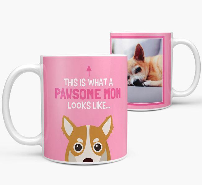 'Pawsome Mom' - Personalized Chihuahua Mug