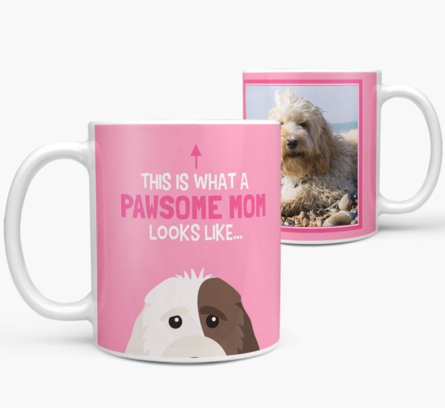 'Pawsome Mom' - Personalized Cockapoo Mug