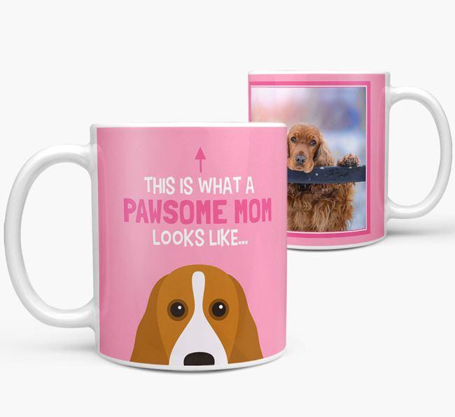 'Pawsome Mom' - Personalized Cocker Spaniel Mug