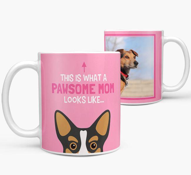 'Pawsome Mom' - Personalized Corgi Mug