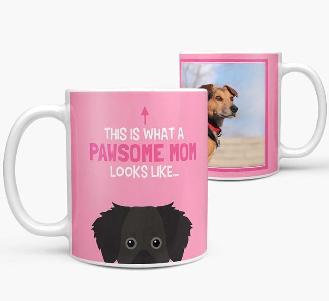 'Pawsome Mom' - Personalized Dameranian Mug