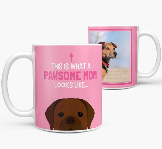 'Pawsome Mom' - Personalized Dogue de Bordeaux Mug