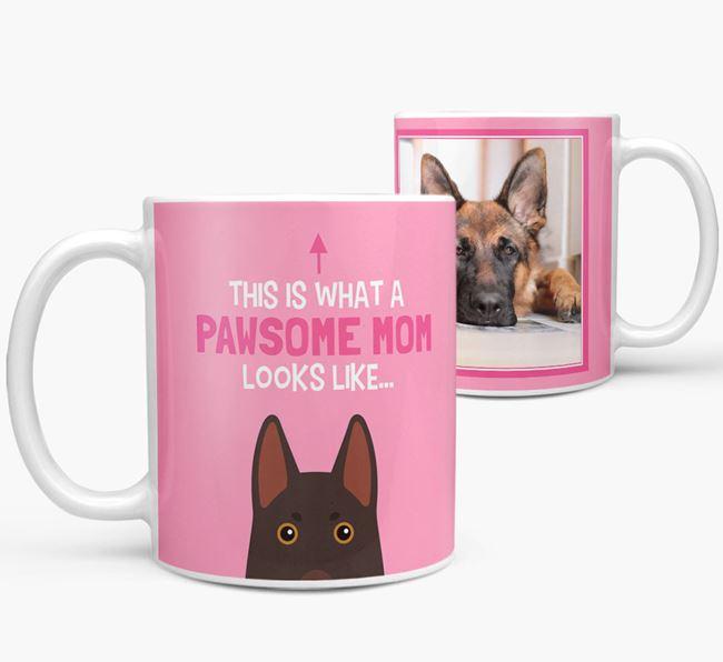 'Pawsome Mom' - Personalized German Shepherd Mug