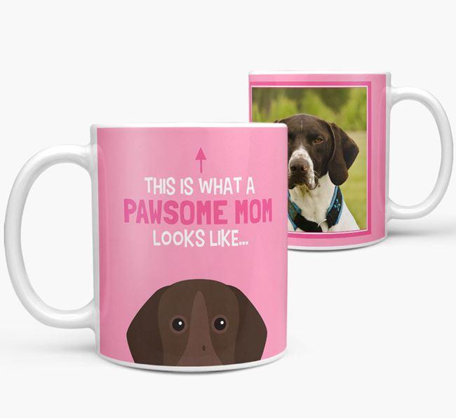 'Pawsome Mom' - Personalized German Shorthaired Pointer Mug