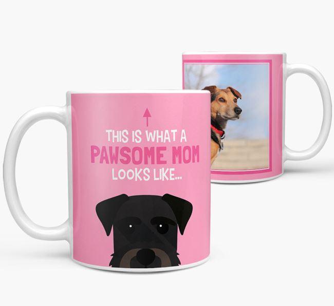 'Pawsome Mom' - Personalized Giant Schnauzer Mug
