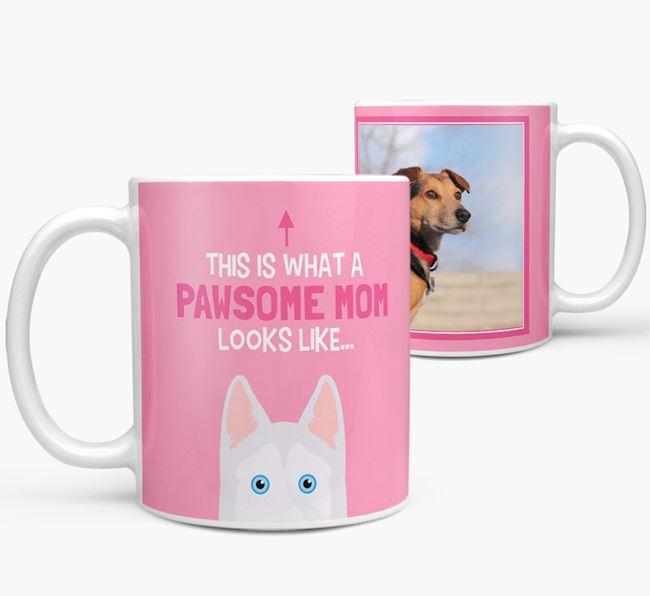 'Pawsome Mom' - Personalized Goberian Mug