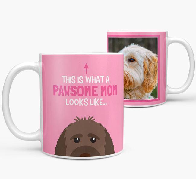 'Pawsome Mom' - Personalized Goldendoodle Mug