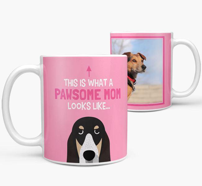 'Pawsome Mom' - Personalized Grand Bleu De Gascogne Mug