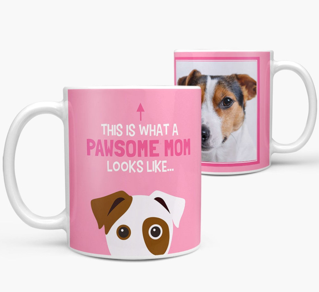 Personalized 'This Is What A Pawsome Mom Looks Like...' Mug Side View