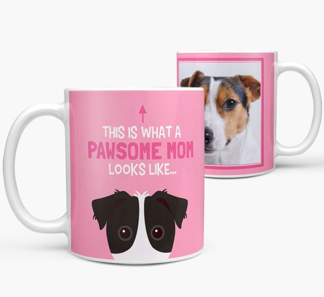'Pawsome Mom' - Personalized Jack Russell Terrier Mug