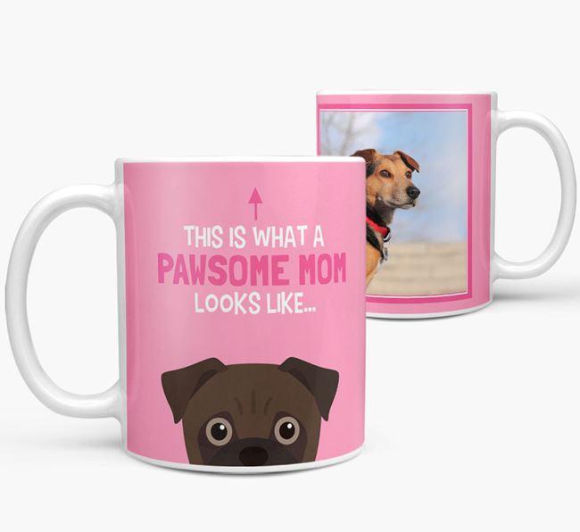 'Pawsome Mom' - Personalized Jug Mug