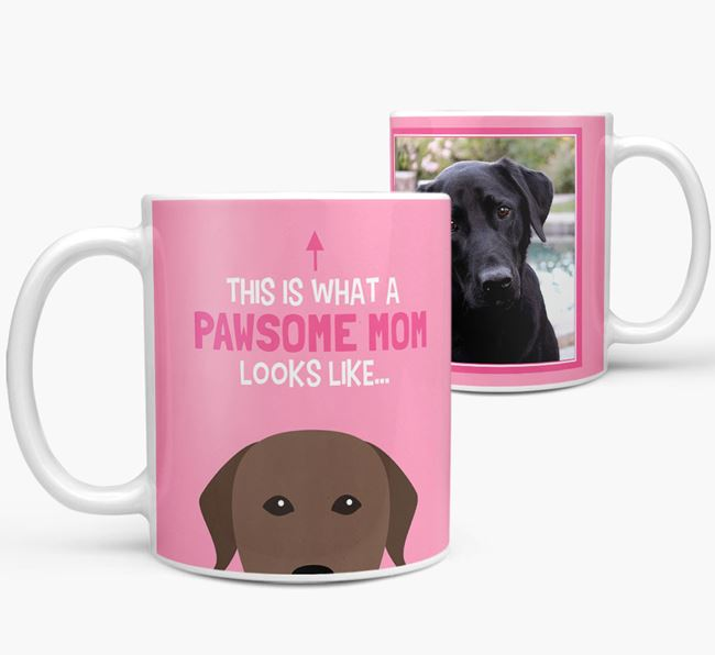 'Pawsome Mom' - Personalized Labrador Retriever Mug