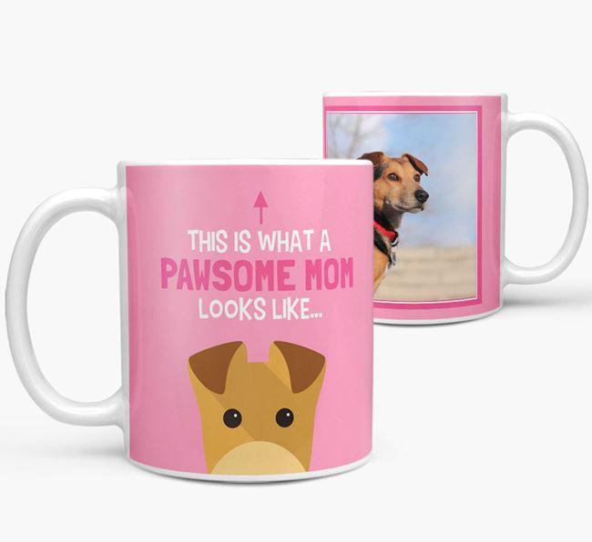 'Pawsome Mom' - Personalized Lakeland Terrier Mug