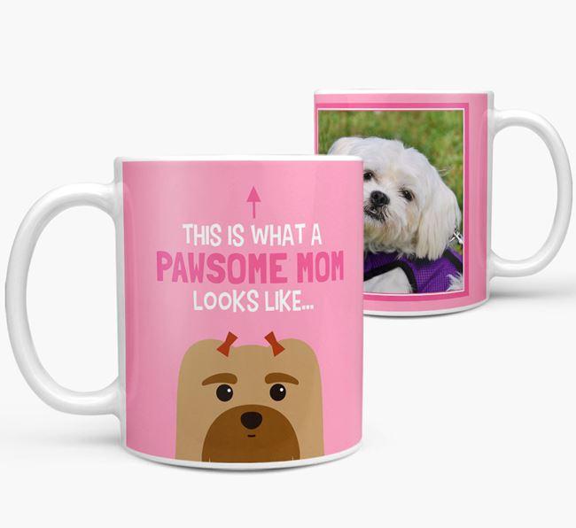 'Pawsome Mom' - Personalized Maltese Mug