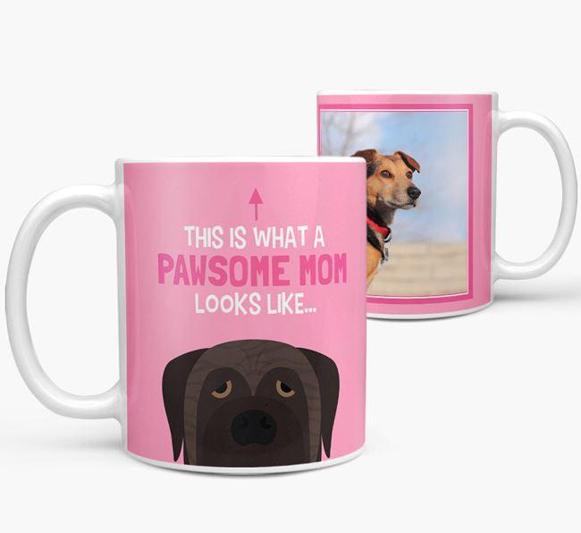 'Pawsome Mom' - Personalized Mastiff Mug