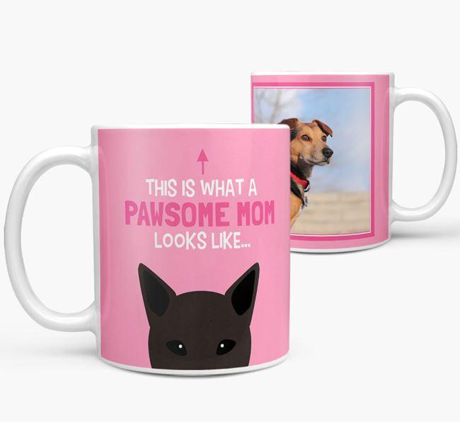 'Pawsome Mom' - Personalized Mixed Breed Mug