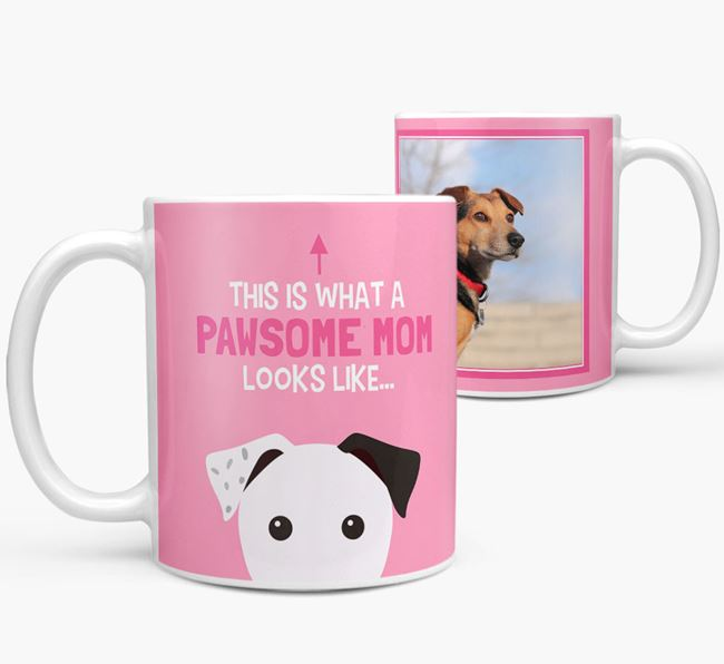 'Pawsome Mom' - Personalized Parson Russell Terrier Mug