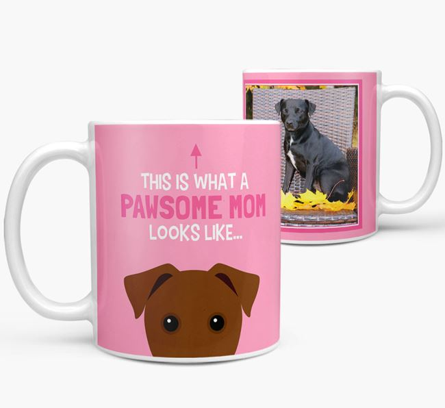 'Pawsome Mom' - Personalized Patterdale Terrier Mug