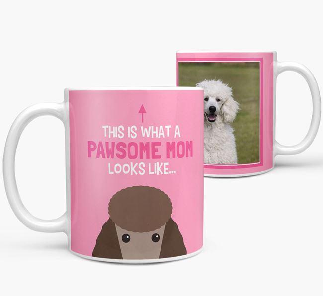 'Pawsome Mom' - Personalized Poodle Mug
