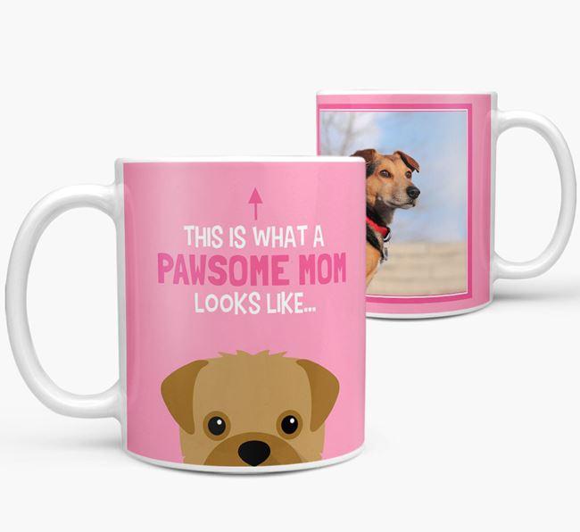'Pawsome Mom' - Personalized Rescue Dog Mug