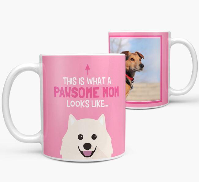 'Pawsome Mom' - Personalized Samoyed Mug