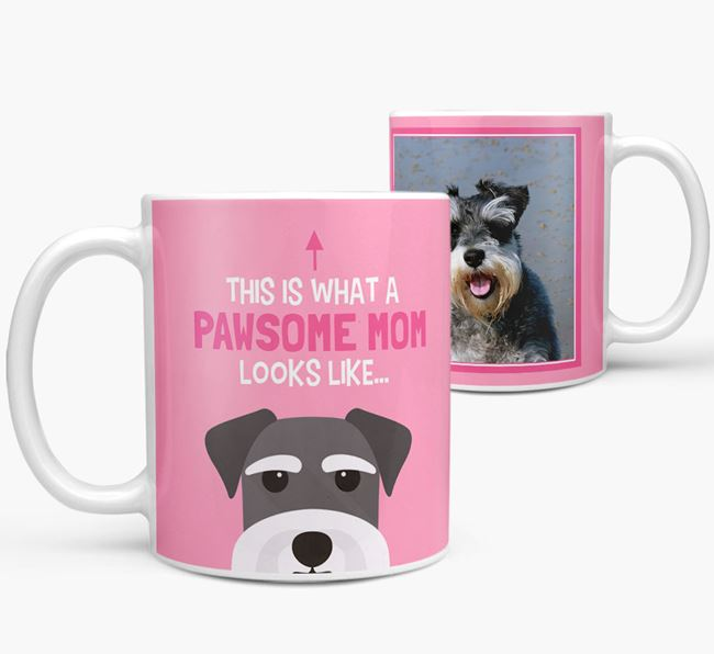 'Pawsome Mom' - Personalized Schnauzer Mug