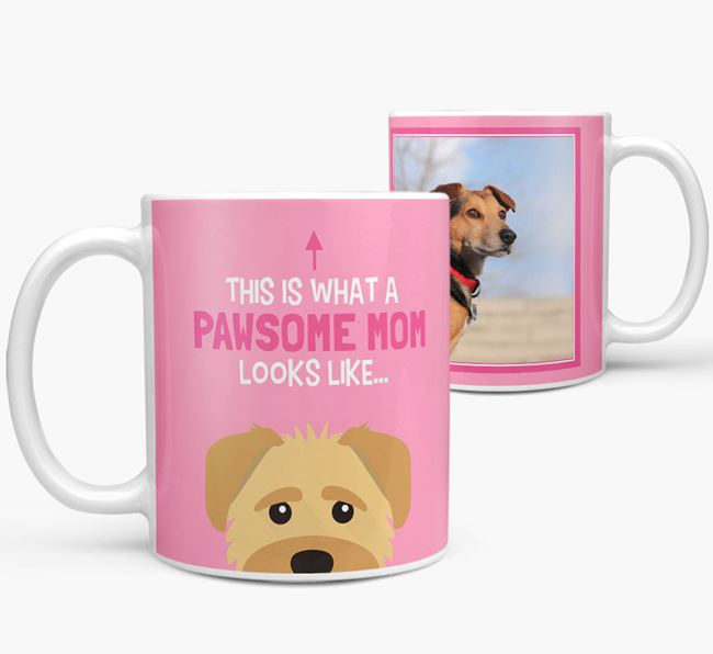 'Pawsome Mom' - Personalized Schnoodle Mug