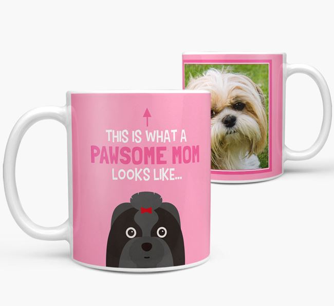'Pawsome Mom' - Personalized Shih Tzu Mug