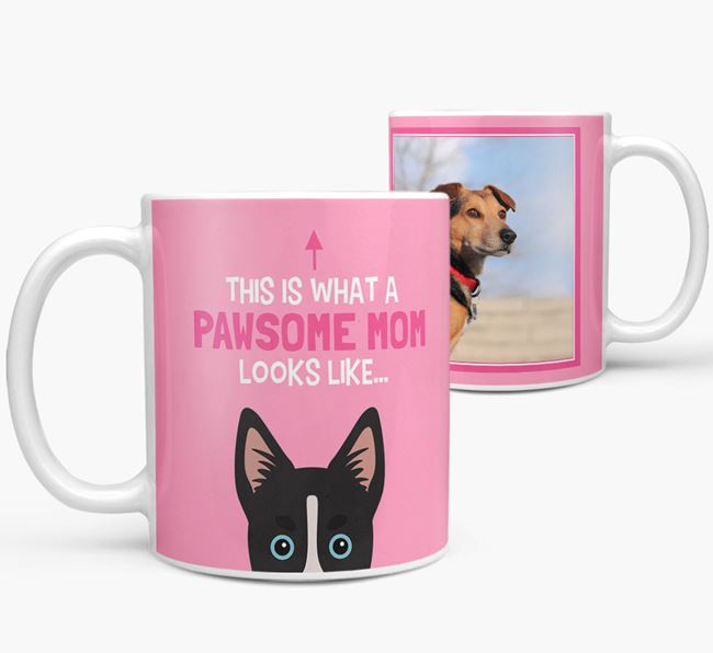 'Pawsome Mom' - Personalized Siberian Cocker Mug