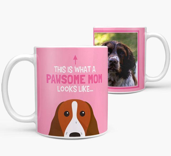 'Pawsome Mom' - Personalized Springer Spaniel Mug