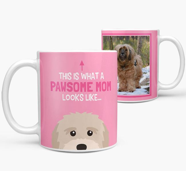 'Pawsome Mom' - Personalized Tibetan Terrier Mug