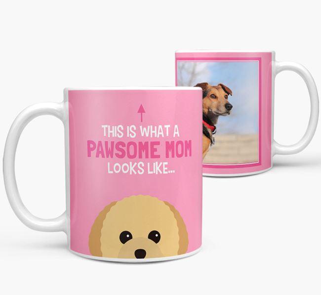 'Pawsome Mom' - Personalized Toy Poodle Mug