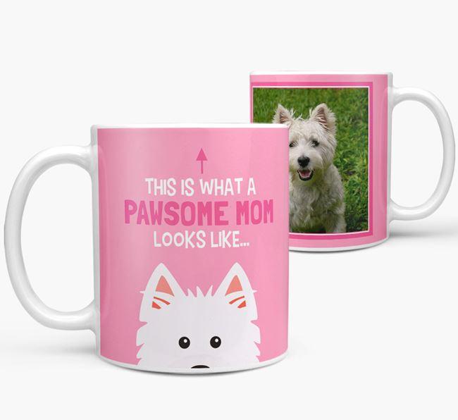 'Pawsome Mom' - Personalized West Highland White Terrier Mug