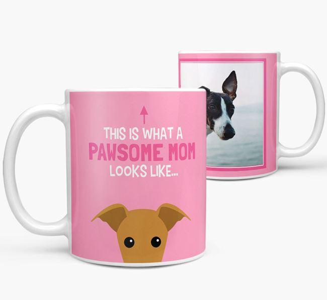 'Pawsome Mom' - Personalized Whippet Mug