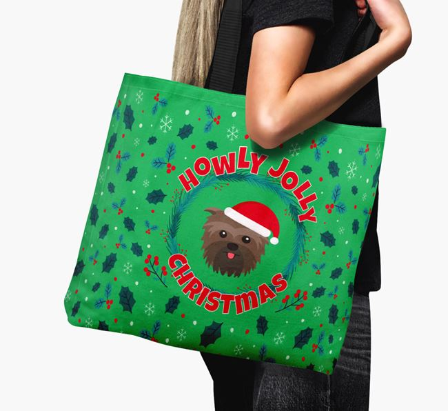 'Howly Jolly' - Personalised Affenpinscher Canvas Bag