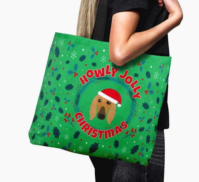 'Howly Jolly' - Personalised Afghan Hound Canvas Bag