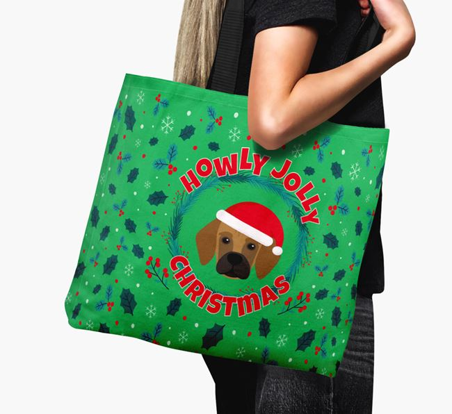 'Howly Jolly' - Personalised Bassugg Canvas Bag