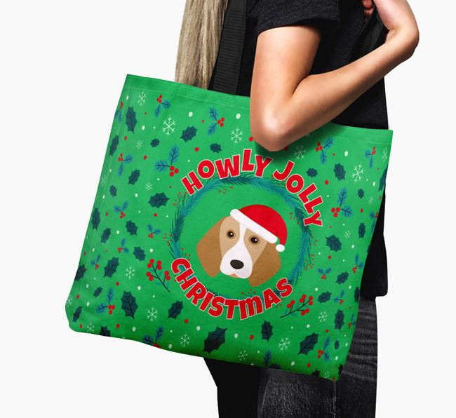 'Howly Jolly' - Personalised Beagle Canvas Bag