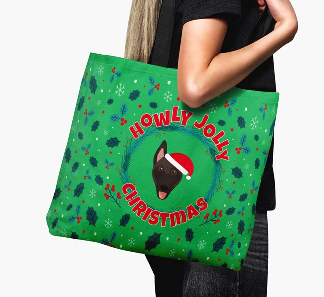 'Howly Jolly' - Personalised Belgian Malinois Canvas Bag