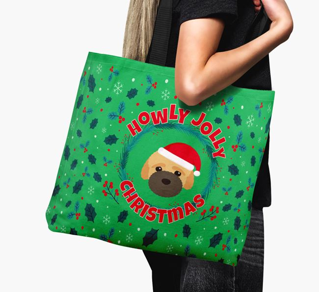 'Howly Jolly' - Personalised Bich-poo Canvas Bag