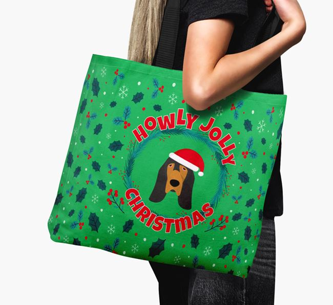 'Howly Jolly' - Personalised Bloodhound Canvas Bag
