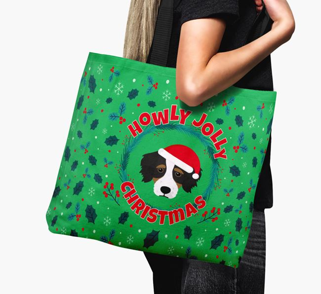 'Howly Jolly' - Personalised Bordoodle Canvas Bag