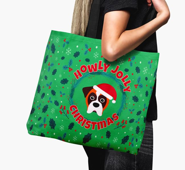 'Howly Jolly' - Personalised Dog Canvas Bag