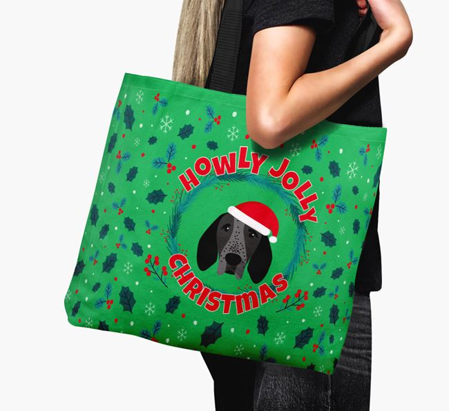 'Howly Jolly' - Personalised Braque D'Auvergne Canvas Bag
