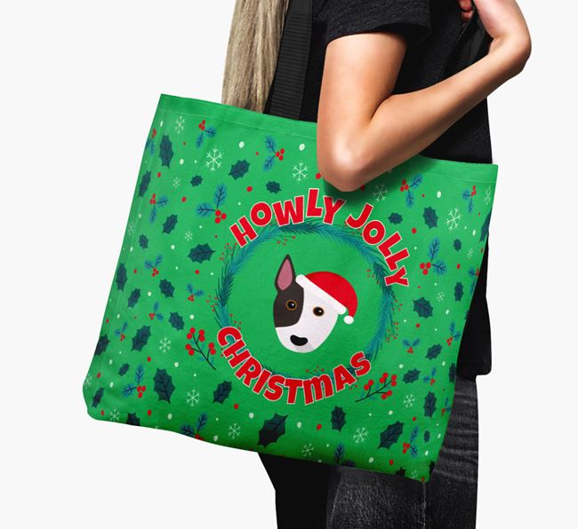 'Howly Jolly' - Personalised Bull Terrier Canvas Bag