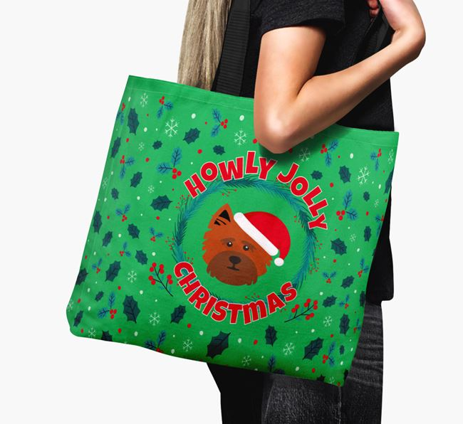 'Howly Jolly' - Personalised Cairn Terrier Canvas Bag